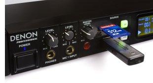 Denon DN-F300 con tarjeta SD / SDHC y puerto USB