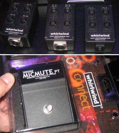 Whirlwind en el NAMM 2010, micmute