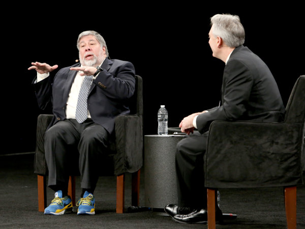 Steve Wozniak con el presidente del NAMM. Copyright: Getty Images for NAMM