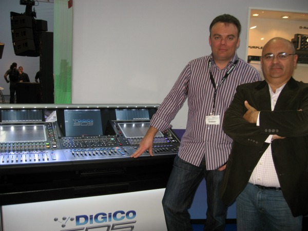 DiGiCo, James Gordon y Rafa Jiménez
