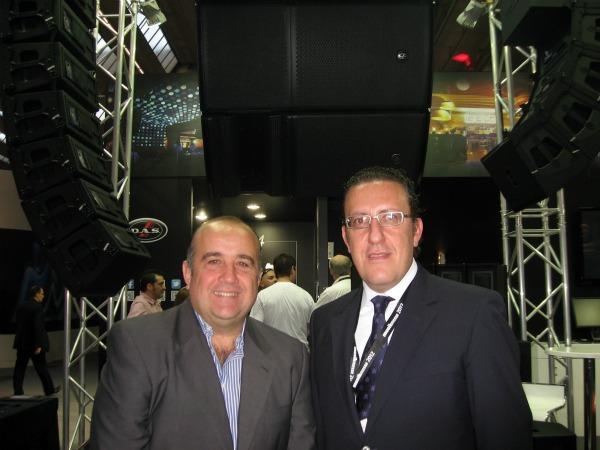 Gonzalo Aguirre y Manolo Peris de DAS Audio
