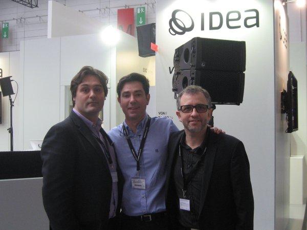 Santiago Alcalá, Gerard Loret y Richi Rozas de Idea (de izquierda a derecha)