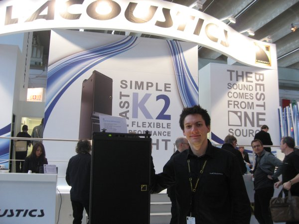 Germain Simon con el K2 de L-Acoustics