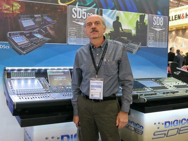 Carlos Maiocchi con la DiGiCo SD5cs