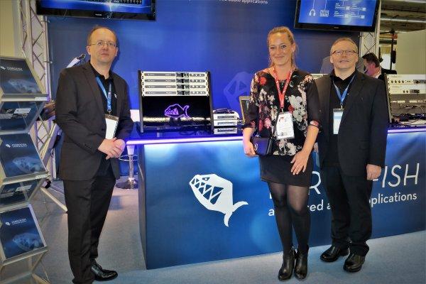 Ferrofish, de izquierda a derecha Jurgen Kindermann, director gerente, Kim Anna Knoedler, encargada de marketing y Klaus Hase, director de ventas
