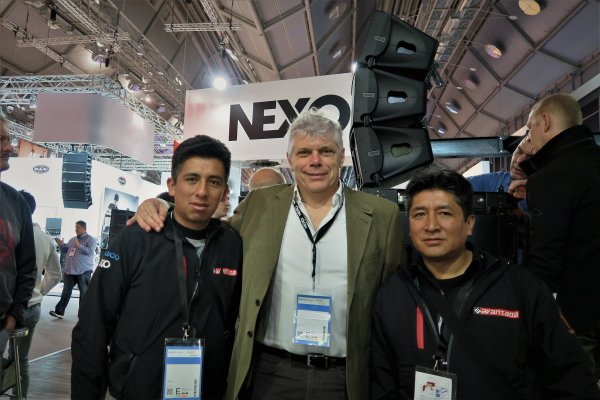 Nexo GEO, de izquierda a derecha, David Quisbert Celso Papadopulos y Richard Quisbert