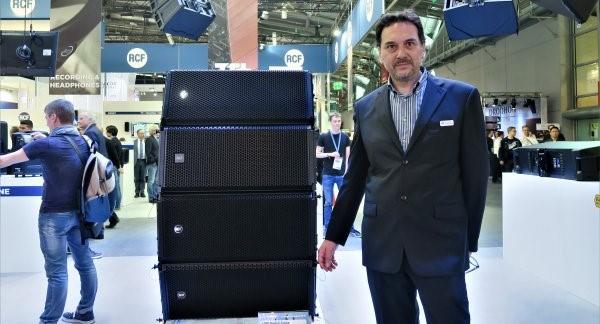 Lucio Boriardi Serri con el sistema HDL-30A